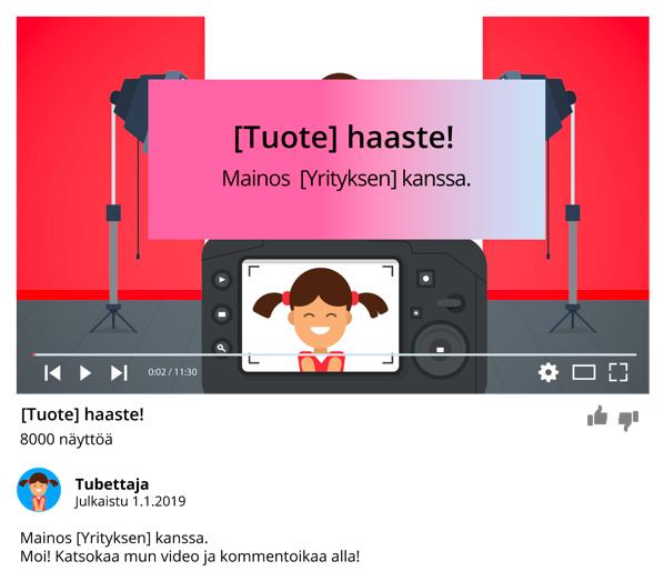 Merkitseminen YouTubessa